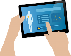Electronic health record on tablet